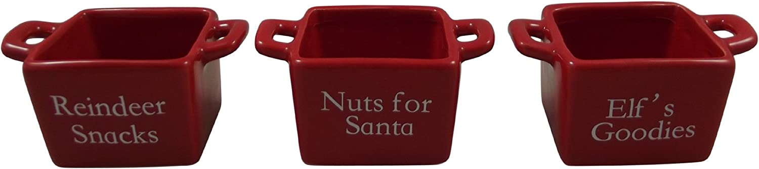 Heaven Sends Set of 3 Miniature Christmas Nut and Snack Dishes