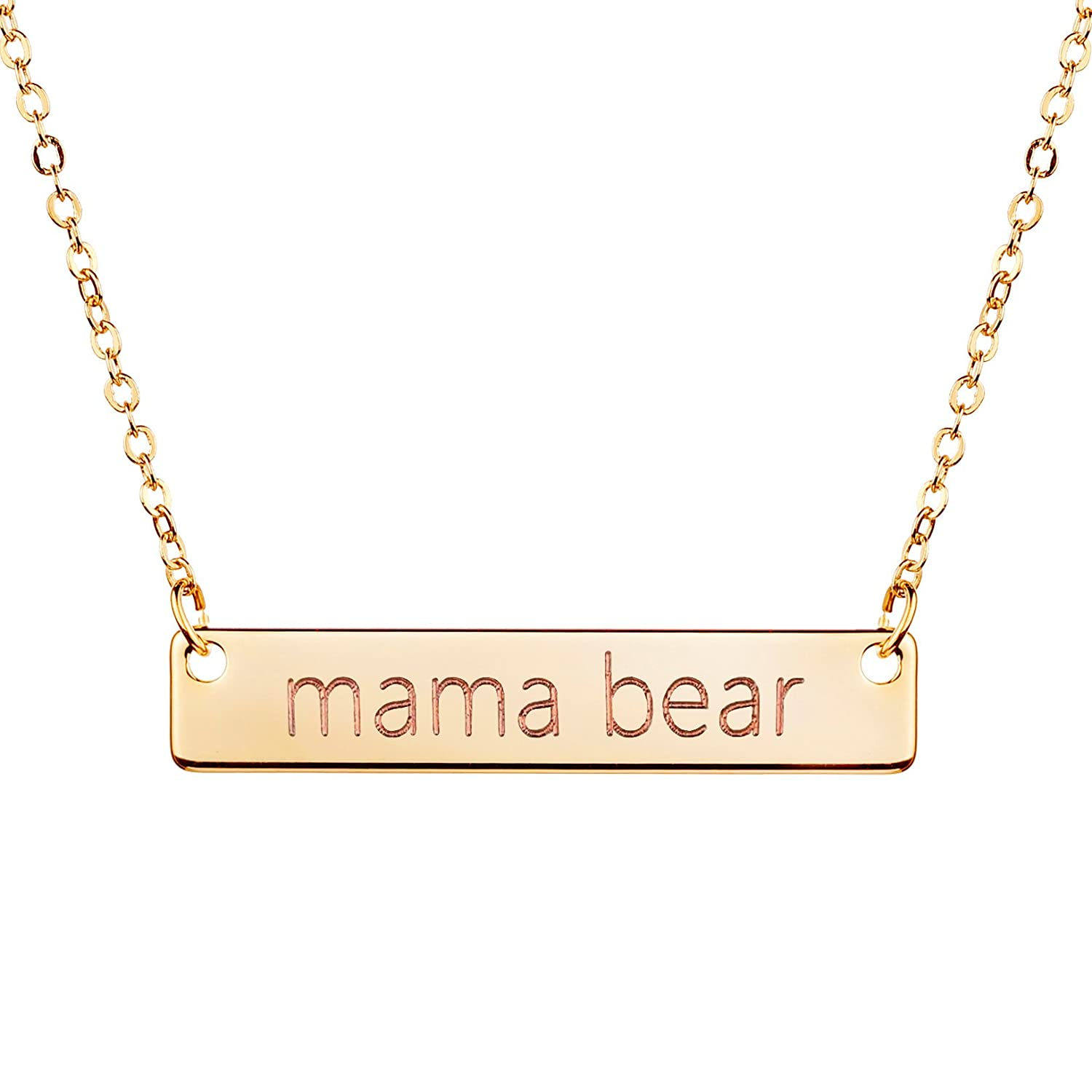 jewelry com mama for s day mom necklace bar bear amazon silver gift rose dp mother mothers gold