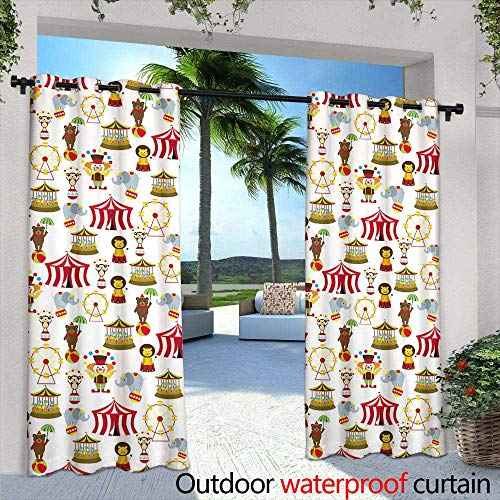 Outdoor- Free Standing Outdoor Privacy Curtain,Seamless vector background with abstract geometric pattern Print Repeating background Cloth design, wallpaper ,W108