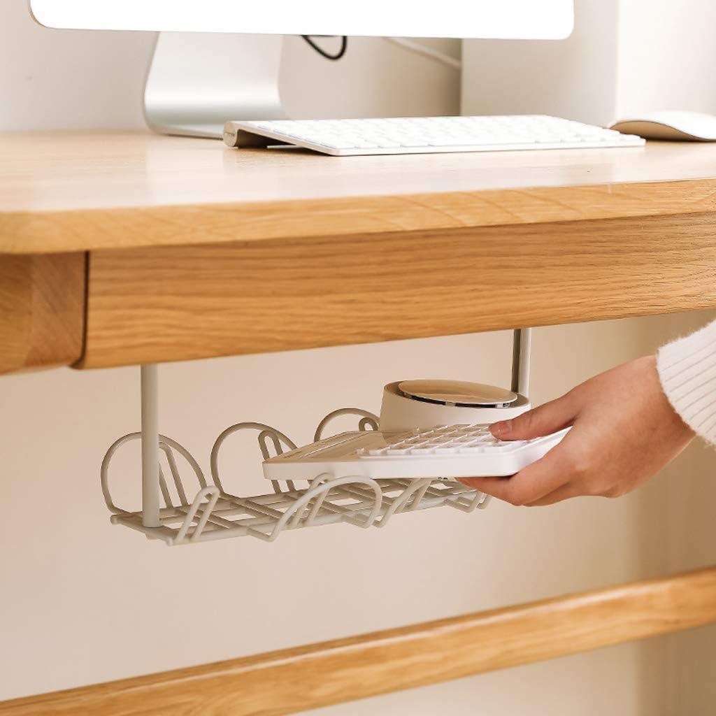 JOYKK Socket Storage Rack Plug Wire Organizer Holder Table Inferior Cable de alimentaci/ón Estante Blanco