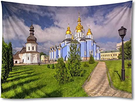 Amazon Com Fhygjd St Michaels Cathedral Art Print Tapestries Home Wall Decor Tapestry 60x90 Inch Home Kitchen