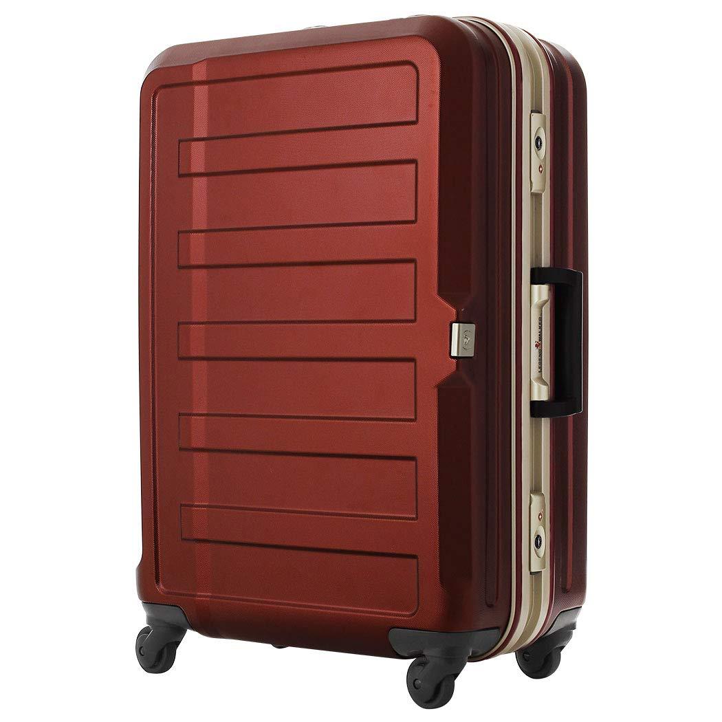 [アウトレット] スーツケース キャリーケース キャリーバッグ LEGEND WALKER レジェンドウォーカー M サイズ 傷が目立ちにくいシボ加工 日乃本 B-5088-60 ワインレッド   B07PPCXFKL