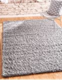 Amazon Price History for:Unique Loom Solid Shag Collection Cloud Gray 5 x 8 Area Rug (5' x 8')