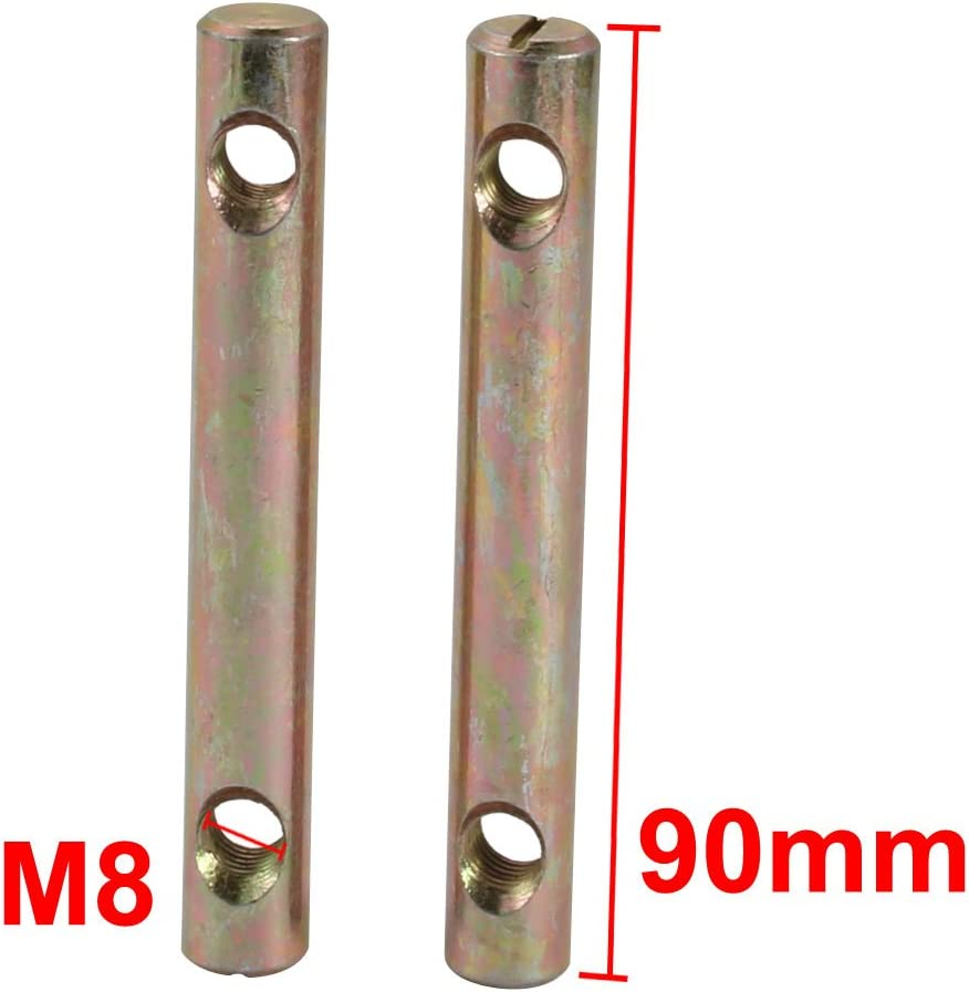 uxcell 5pcs M8x90mm Dual Hole Zinc Plated Iron Slotted Drive Cross Dowel Barrel Nut