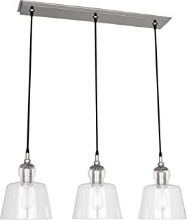 product image for Robert Abbey S753 Albert - Three Light Pendant, Polished Nickel Finish with Clear Glass
