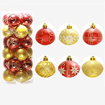 hot sale clearancetodaies 24pc christmas tree xmas balls decorations baubles party wedding