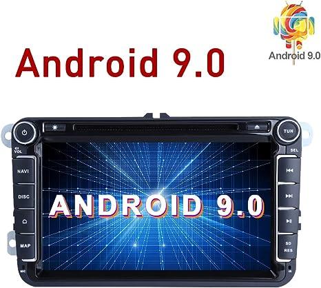 Radio estéreo para Coche Android 9.0 2Din 8 Pulgadas HD Pantalla ...