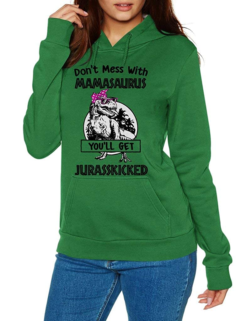 Funny Vintage Trending Awesome Shirt Unisex Style Hoodie SMLBOO Dont Mess with Mamasaurus Youll Get Jurasskicked