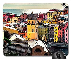 City Mouse Pad, Mousepad (Houses Mouse Pad, 10.2 x 8.3 x 0.12 inches)