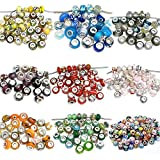 Lot 100 Mix Random Murano Glass Bead for snake Chain charm bracelets