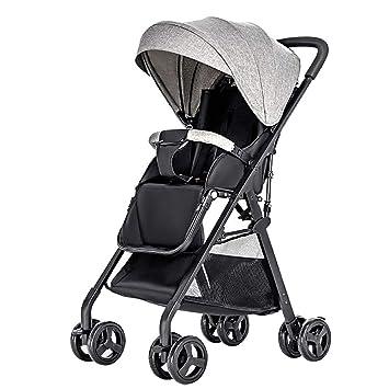 GAOJI Cochecitos para bebés, carritos pequeños, carritos de Lujo de Alta Visibilidad, carritos de Cuatro Ruedas portátiles ultraligeros, ...