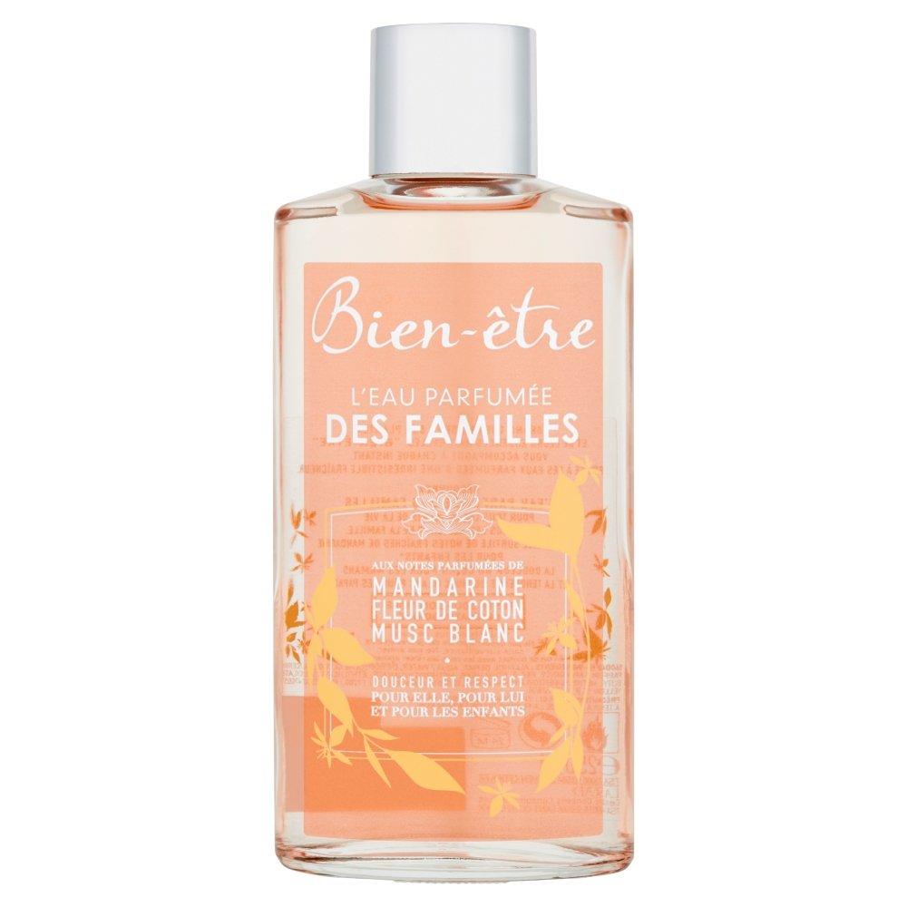 Bien Être L'Eau Parfumée des Familles, Parfümiertes Wasser, Noten von Mandarine, Baumwollblüte und weißem Moschus, 250 ml Parfümiertes Wasser Bien Etre
