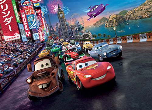 Disney Pixar Cars World Race Wallpaper Mural by (Disney Cars Mural)