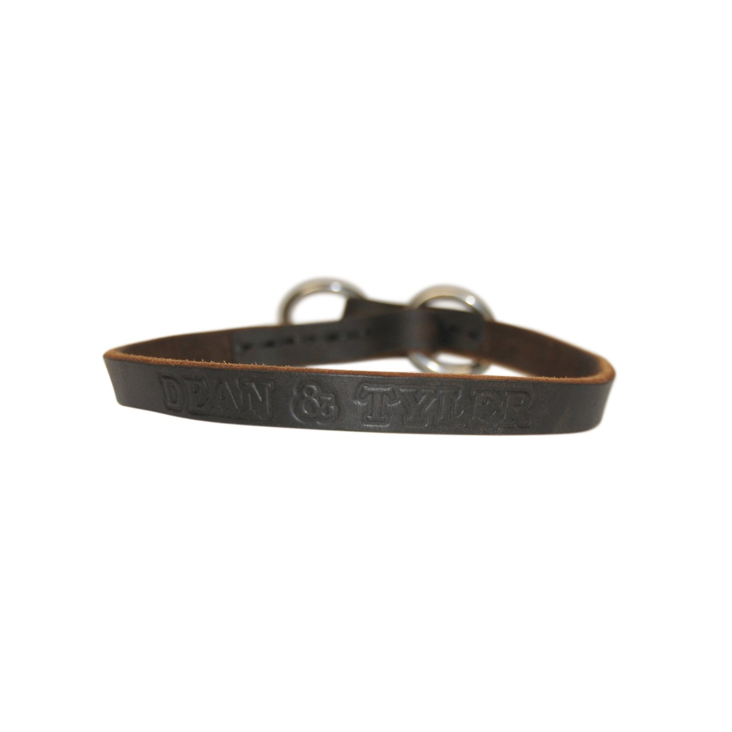 Dean and Tyler TRANQUILITY , Leather Dog Choke Collar with Stainless Steel Hardware Brown Size 36-Inch by 3 4-Inch Fits Neck 34-Inch to 36-Inch