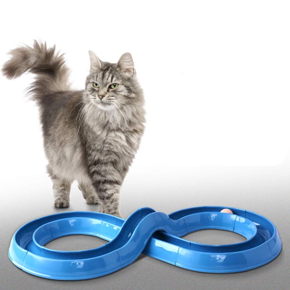 A DIY Combined Track cat Toy Set cat Turntable pet Supplies Educational ToysA
