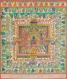 The Paradise of the Medicine Buddha (Tibetan Buddhist) - Tibetan Thangka Painting