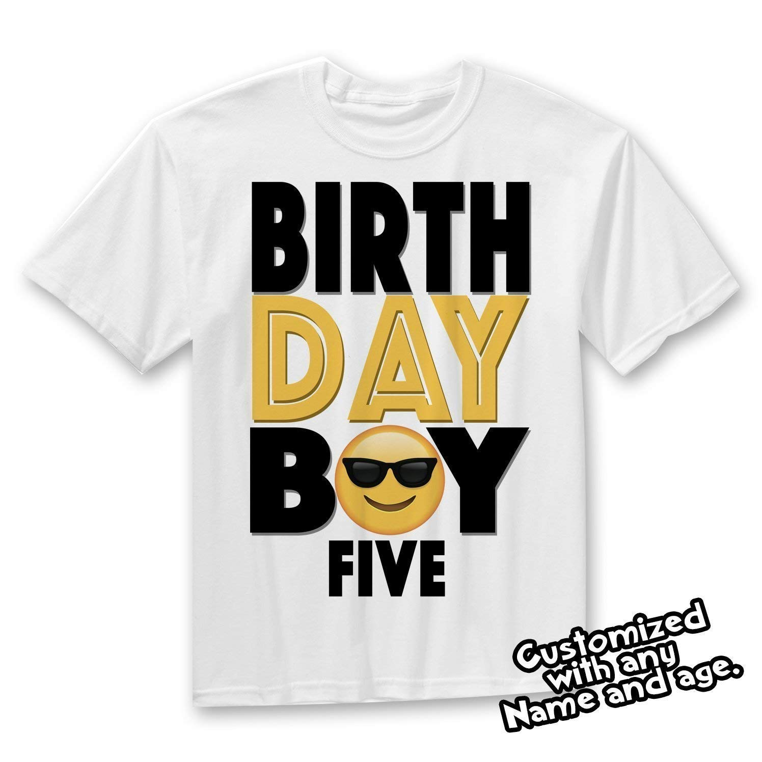 Amazon Emoji Birthday Shirt Party Outfit Boy Handmade