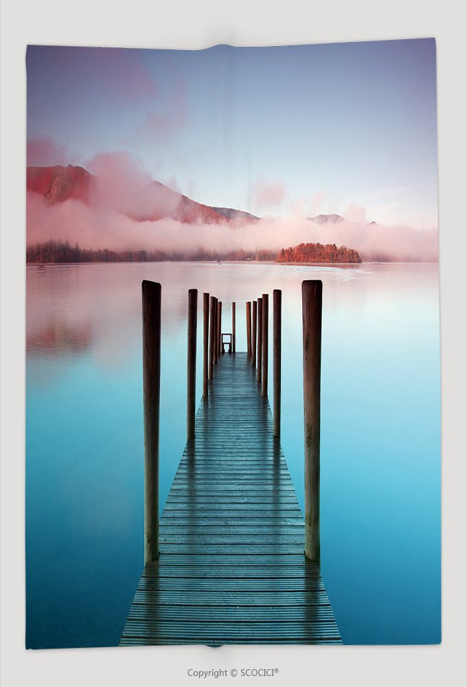 Custom Throw Blanket Ashness Pier The Pier Is A Landing Stage On The Banks Of Derwentwater Cumbria In The English 89361619 and Comfortable by vanfan