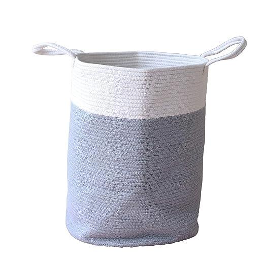 z-/uiefr - Cesto de algodón Grande con Colores a Juego para la ...