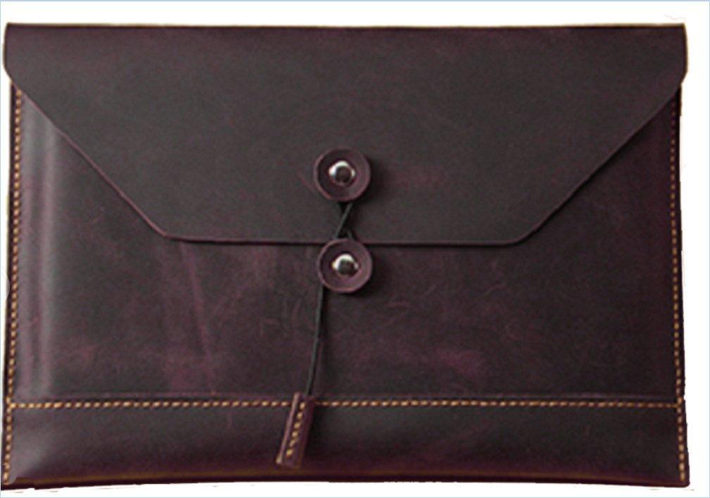 file Folder pocket bag case cow Leather for men women customize brown z619
