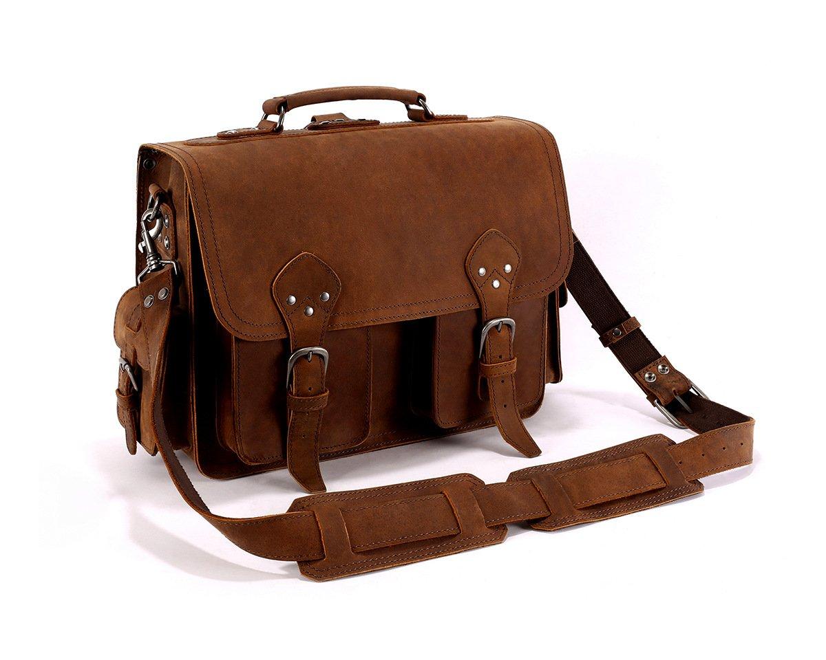 Leyden and Sons Leather Bag Co. - Backwoods Satchel