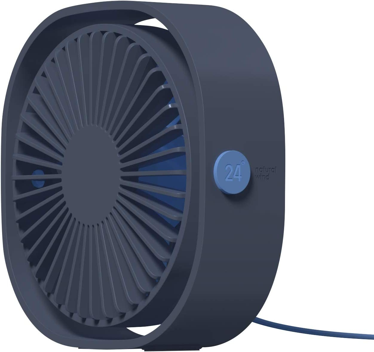 LEL Small USB Desk Fan for office mini USB Powered Table Fan with 360 Rotation 3 Speeds Adjustable (Blue)