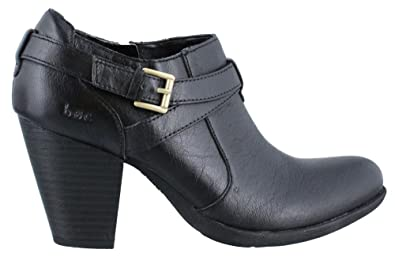 Womens Moore Leather Round Toe Ankle Fashion Boots