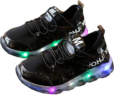 Kids Shoes Children Led Lighted Shoes Breathable Non-slip Running Sneakers Kids