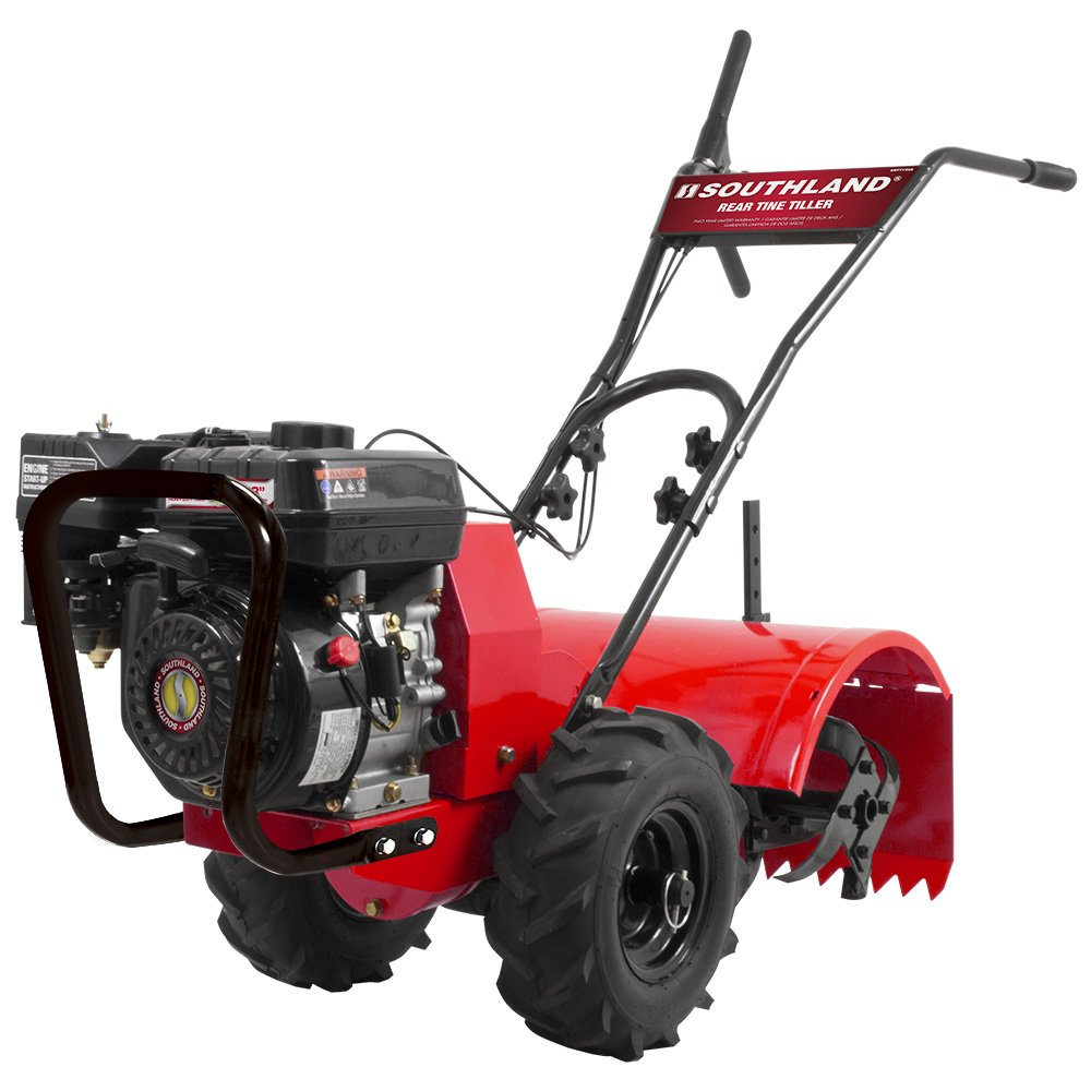 best rear tine tiller - Southland SRTT196E Rear Tine Tiller with 196cc, 4 Cycle, 9.6 foot-pound, OHV Engine