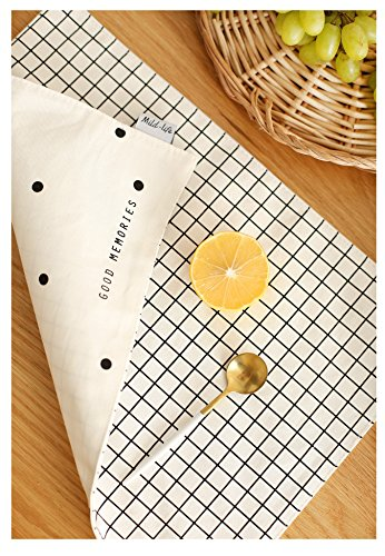 moons-habour-children-100-cotton-black-and-white-series-double-sided-placemats-boreal-europe-style-e