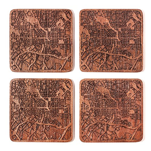Baltimore Map Coaster by O3 Design Studio, Set Of