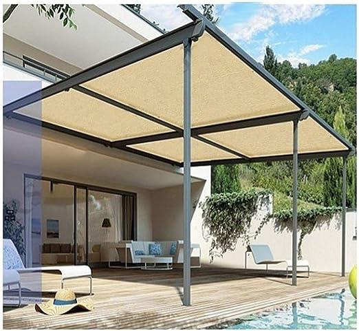 ALGFree Toldo Vela de Sombra Toldos Protector Solar Aislar el Calor 90% Balcón al Aire Libre Enfriarse Techo Habitación Plantas Jardín Protección Solar,21 Tallas (Color : Beige, Size : 1×2m): Amazon.es: Hogar