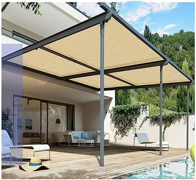 ALGFree Toldo Vela de Sombra Toldos Protector Solar Aislar el Calor 90% Balcón al Aire Libre Enfriarse Techo Habitación Plantas Jardín Protección Solar,21 Tallas (Color : Beige, Size : 2×6m): Amazon.es: Hogar