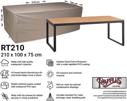 Raffles Covers NW-RT210 - Funda Protectora para Mesa de jardín (210 x 100 x 75 cm, Cubierta para Mesa de jardín, Cubierta Exterior para Mesa): Amazon.es: Jardín