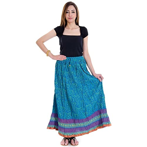 Sanganeri Floral Print Pure Cotton Skirt