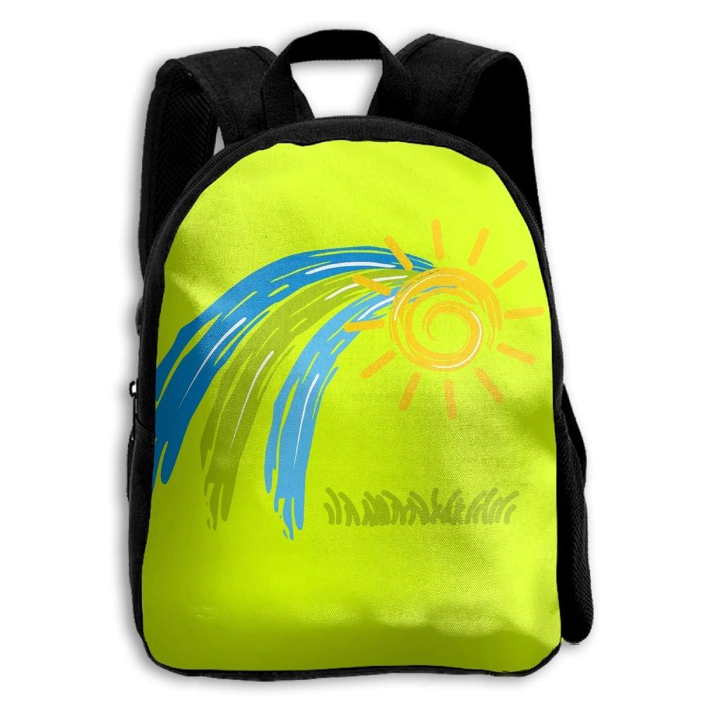 Sun Kids Backpacks Double Shoulder Print School Bag Travel Gear Daypack Gift