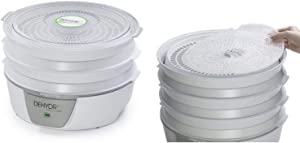Presto 06300 Dehydro Electric Food Dehydrator and Presto 06307 Dehydro Electric Food Dehydrator Nonstick Mesh Screens Bundle