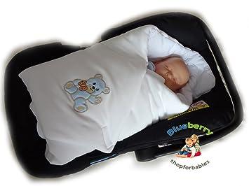 BlueberryShop Cute Velour For CAR SEAT Swaddle Wrap Blanket Sleeping Bag Newborn Baby Shower GIFT