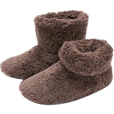 efc68adeb911 mianshe Mens and Women s Cozy Bootie Slippers with Memory Foam for Indoor  Outdoor