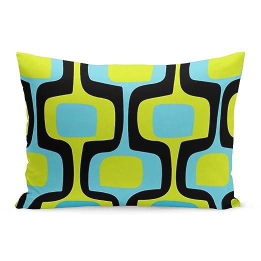 Abakoyi - Funda de cojín con diseño Retro, Color Azul ...