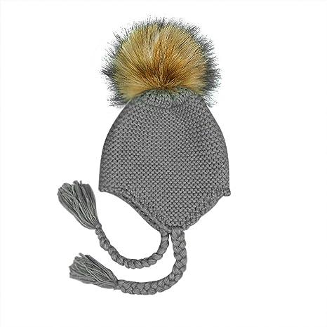 Milopon Bady Gorro Sombrero De Invierno Niño Niña Algodón Calientes  Stricken Esquí Caps Gorro para Bebé d0f5d4fb23d