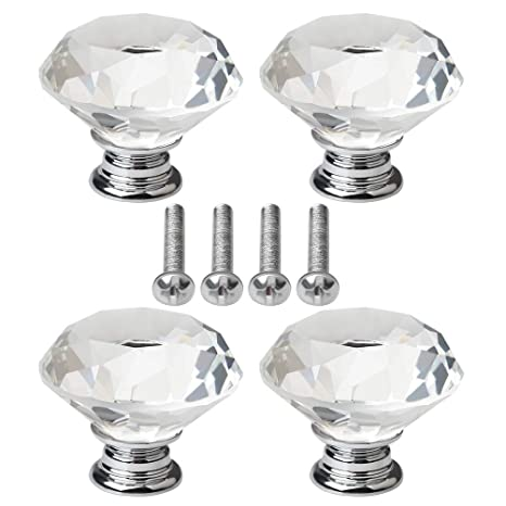 con vite per mobili e cassetti 30 mm Pomelli per porte in vetro cristallo