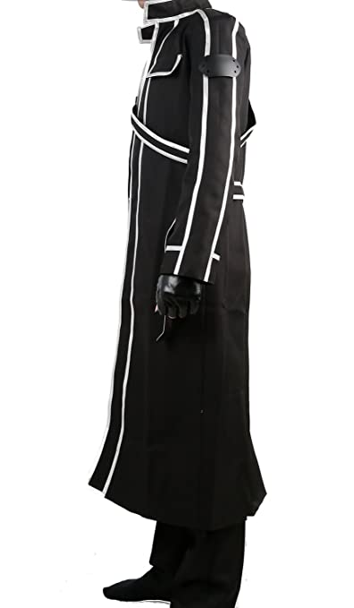 Amazon.com: SAO Kirito Cosplay Jacket Coat Costume Suit for Sword Art Online Uniform Version: Clothing