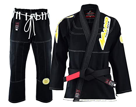 Malino Traje de Jiu Jitsu Gi brasileño Parche Tejido Perla ...