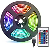2 Meters LED Strip Light, TV Bias Backlighting Kit for HDTV Desktop PC Decoration, Waterproof RGB Monitor Lights with…