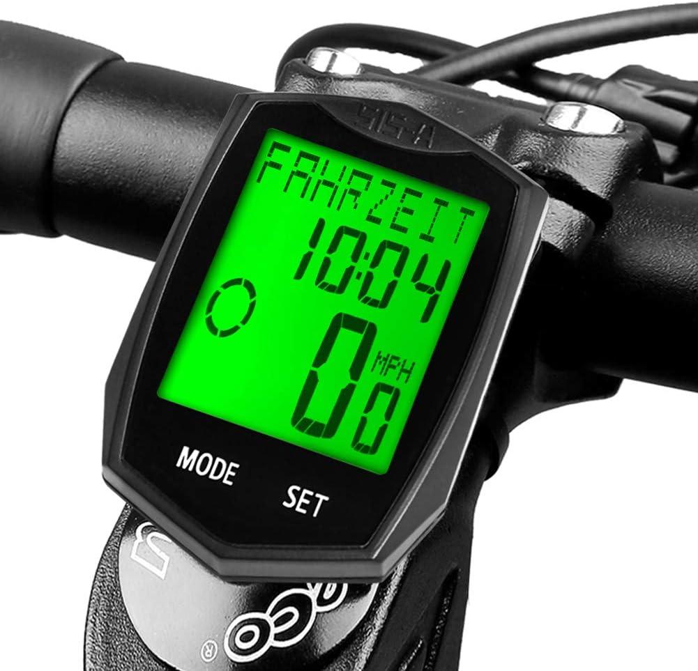 Velocímetro Bicicleta, DINOKA 23 functions Inalámbrico ...