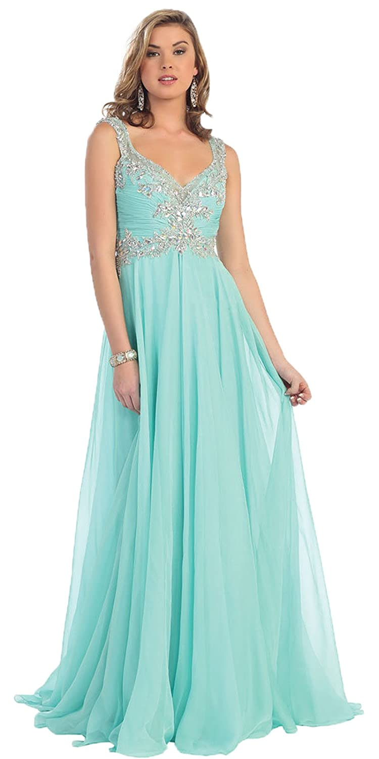 Amazon.com: Royal Queen RQ7146 Flowy Prom Formal Evening Gown: Clothing