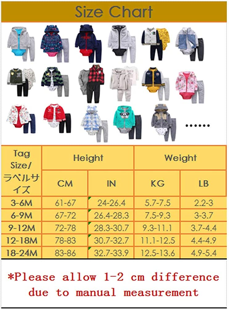 Odziezet Baby Clothing Set 3pcs Long Sleeve Hoodie Bodysuit Pants Newborn Girl Boy Autumn Winter Clothes Outfits 0-24 Months