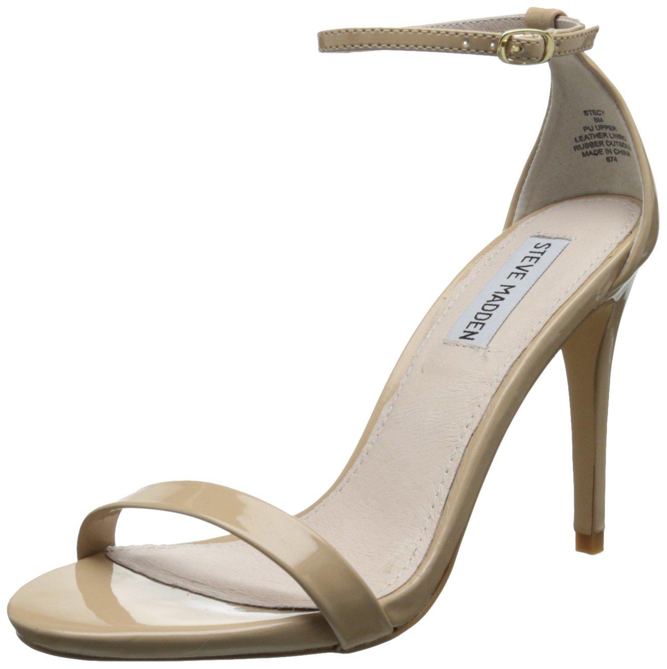 Steve Madden Women's Stecy Dress Sandal,Blush Patent,7 M US