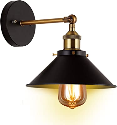 Wall sconces 2 pack jackyled ul black hardwire industrial vintage industrial wall sconces light citylights direct vintage e26 e27 base black wall edison simplicity lamp sconce aloadofball Image collections